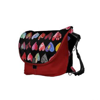 Follow Your Heart Red Custom Rickshaw Messenger Courier Bag