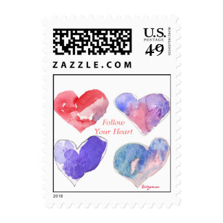 Follow Your Heart Small Love Violet Postage