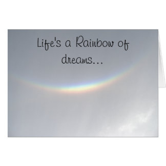 Follow Your Heart Smilig Face Rainbow Card