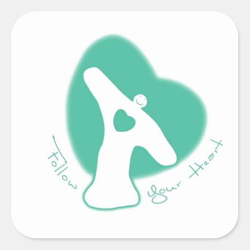 Follow Your Heart Square Sticker