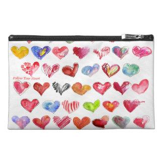 Follow Your Heart Travel Custom Zipper Bag Purse Travel Accessories Bags