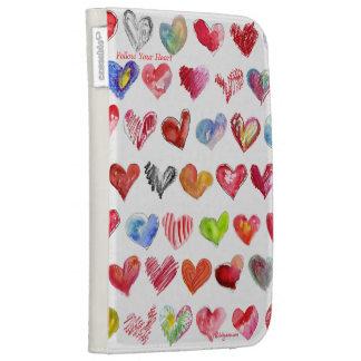 Follow Your Heart White Custom Kindle Folio Case