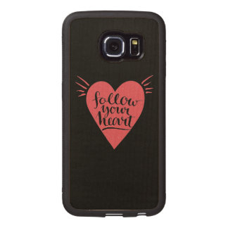 Follow Your Heart Wood Phone Case