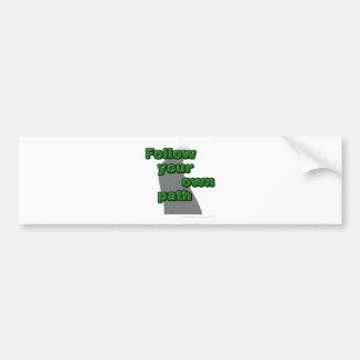 Follow your own path bumper sticker