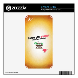 Follow Your Passion Decal For iPhone 4
