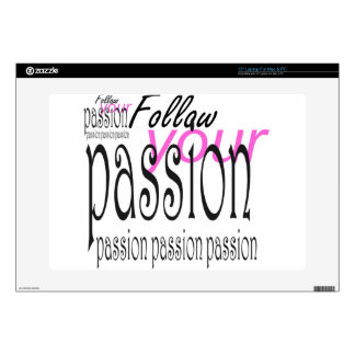 Follow your passion laptop decals