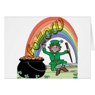 Follow your rainbow card