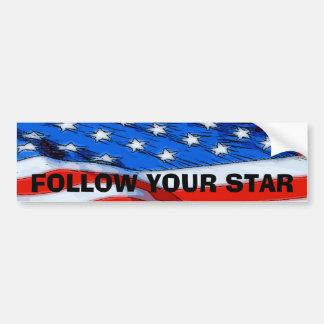 Follow Your Star Bumper Sticker