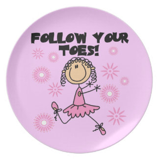 Follow Your Toes Ballerina Kids Plate