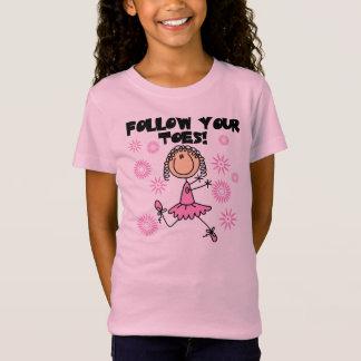 Follow Your Toes Ballerina T-Shirt