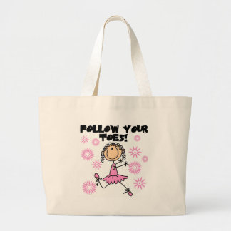 Follow Your Toes Ballerina Tshirts and Gifts Canvas Bags