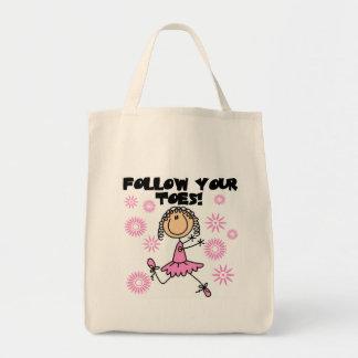 Follow Your Toes Ballerina Tshirts and Gifts Tote Bag