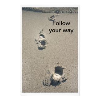 Follow your way custom stationery