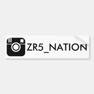 Follow @ZR5_NATION White Bumper Sticker