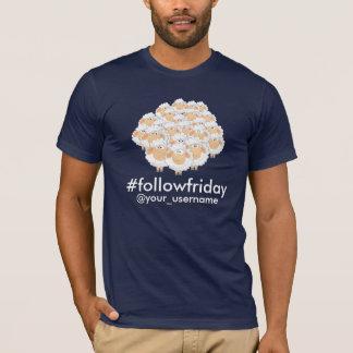 #followfriday Custom Username Black Sheep T-Shirt