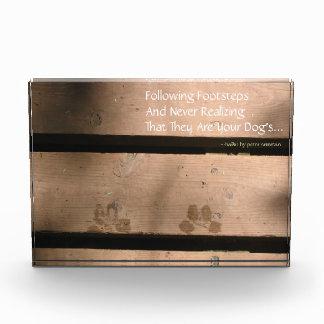 Following Footsteps Dog Haiku Desktop Sculpture Award
