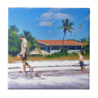 Following In His Father's Steps Ceramic Tile