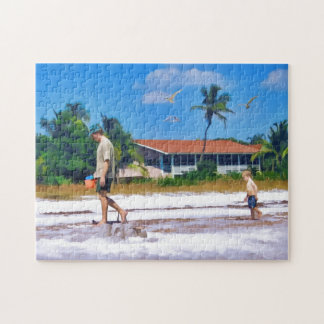 Following In His Father's Steps Jigsaw Puzzle