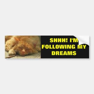 Following My Dreams Car Bumper Sticker