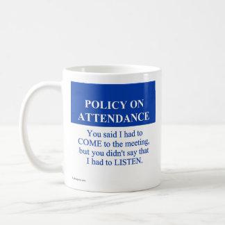 Following the Employee Attendance Policy (3) Classic White Coffee Mug