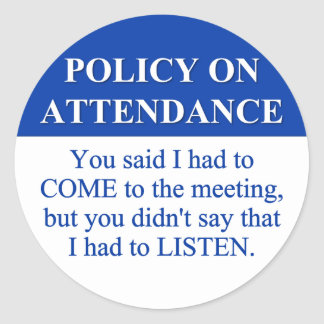 Following the Employee Attendance Policy (3) Stickers