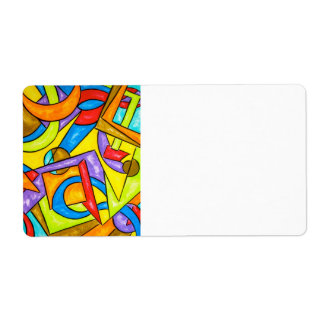 Following The Instructions - Abstract Art Custom Shipping Labels