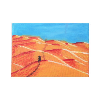 Following the man in black canvas prints