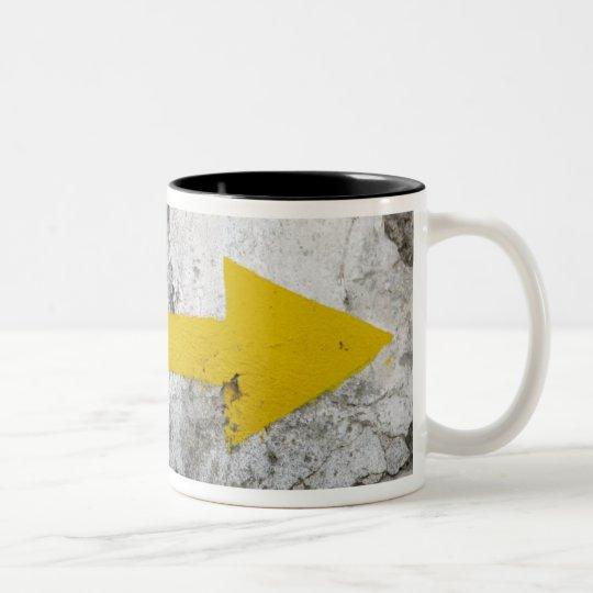 Following the Yellow Arrows Mug
