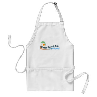 Folly Beach. Adult Apron