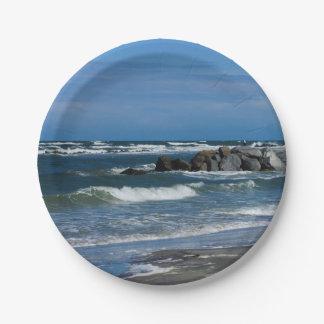 Folly Beach Atlantic Paper Plate