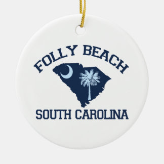Folly Beach. Ceramic Ornament