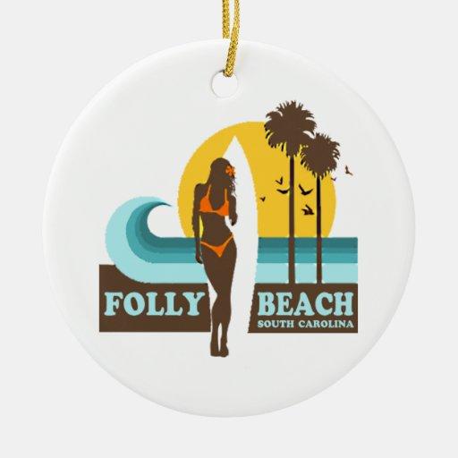 Folly Beach. Christmas Ornaments
