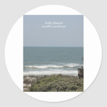 Folly Beach Classic Round Sticker