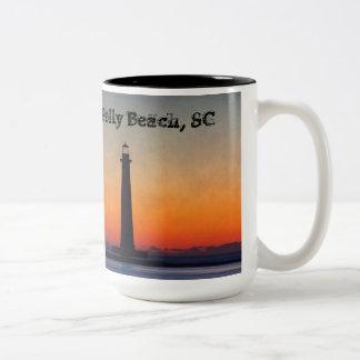Folly Beach Lighthouse Two-Tone Coffee Mug