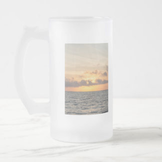 Folly Beach Morning Frosted Glass Beer Mug