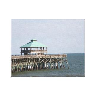 Folly Beach SC, Pier, Charleston, Photography Canvas Print