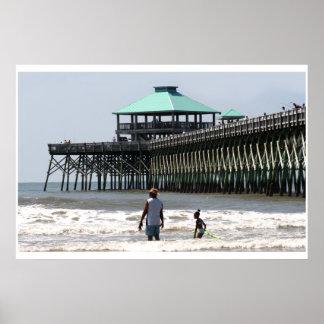 Folly Beach SC Pier Poster