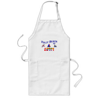 Folly Beach SC Signal Flags Long Apron