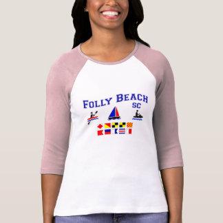 Folly Beach SC Signal Flags T-Shirt