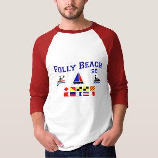 Folly Beach SC Signal Flags Tee Shirt