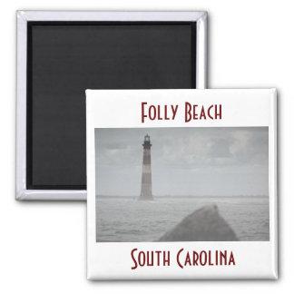 Folly Beach, South Carolina 2 Inch Square Magnet