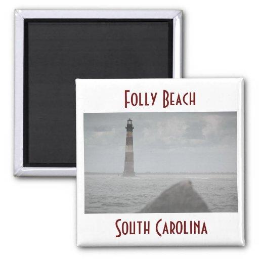 Folly Beach, South Carolina Refrigerator Magnet