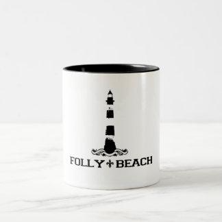 Folly Beach. Two-Tone Coffee Mug