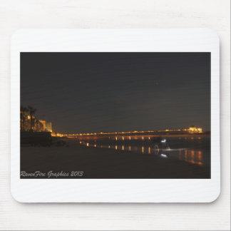 Folly Pier at Night Mouse Pad