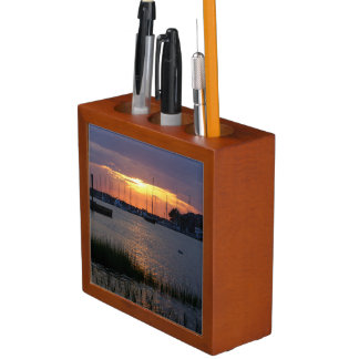 Folly River Sunset Desk Organizer