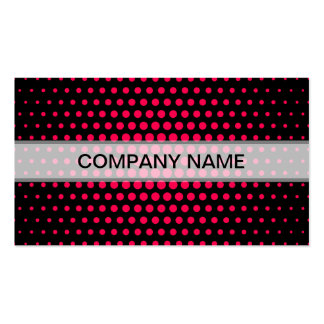 Folly Techno Dots Modern Black Double-Sided Standard Business Cards (Pack Of 100)