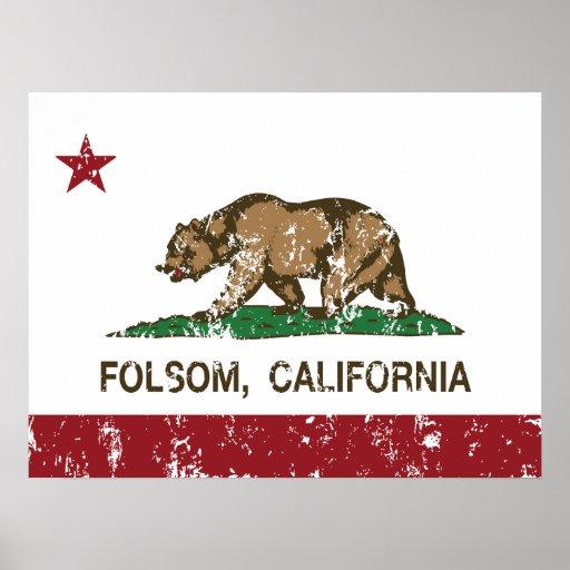 folsom de la bandera de California apenado Impresiones
