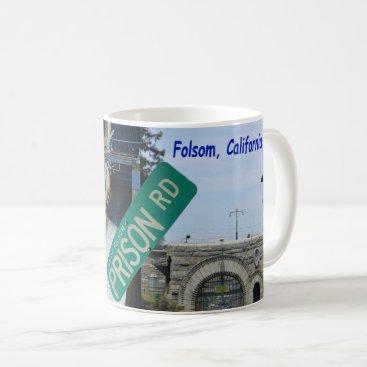 USA Themed Folsom Icon: Folsom Dam and Prison 1 Coffee Mug