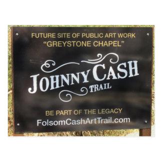 Folsom Icon: Sign on the Johnny Cash Trail Postcard