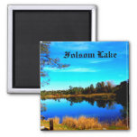 Folsom Lake 2 Inch Square Magnet